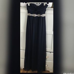 City Triangles navy gown